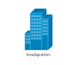 Headquarters, blue, headquarters, generic building,