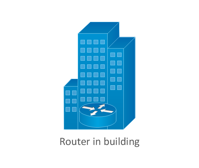 Router in building, router in building,