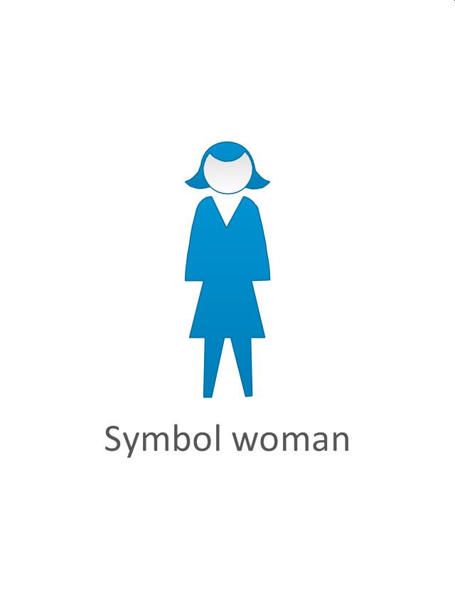Symbol woman, symbol woman, standing woman,