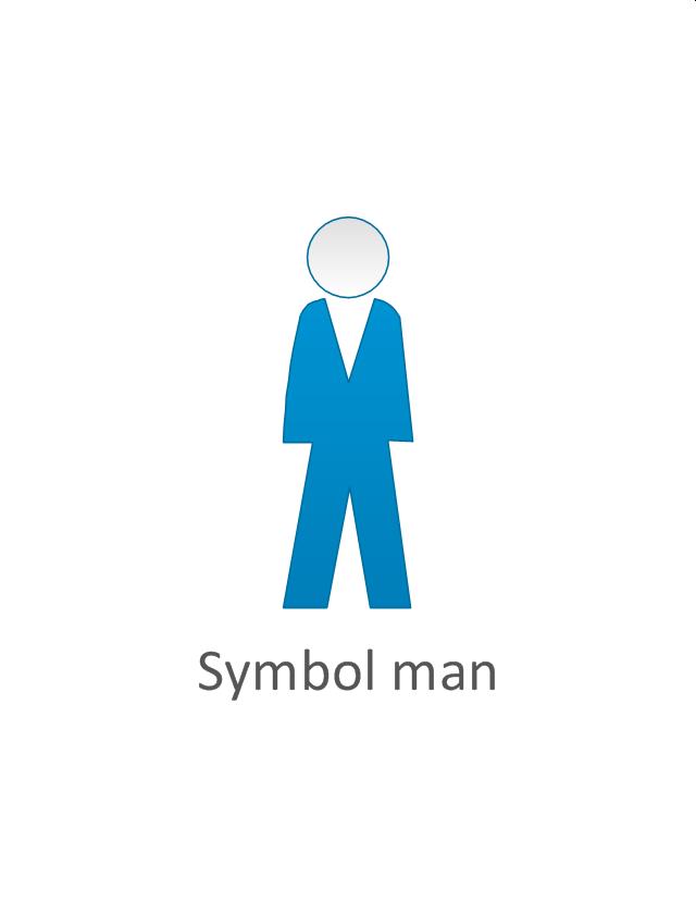 Symbol man, symbol man, standing man,