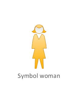 Symbol woman, yellow, symbol woman, standing woman,