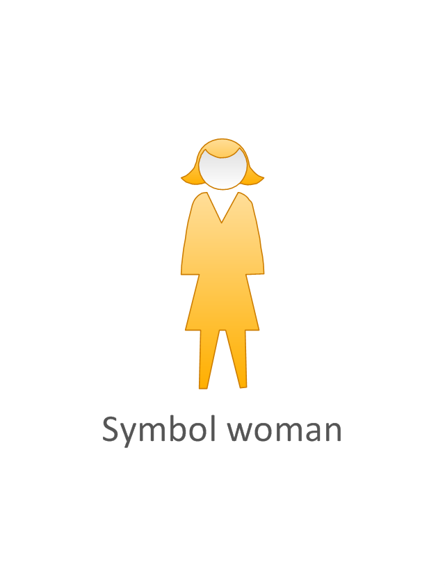 Symbol woman, yellow, symbol woman, standing woman,
