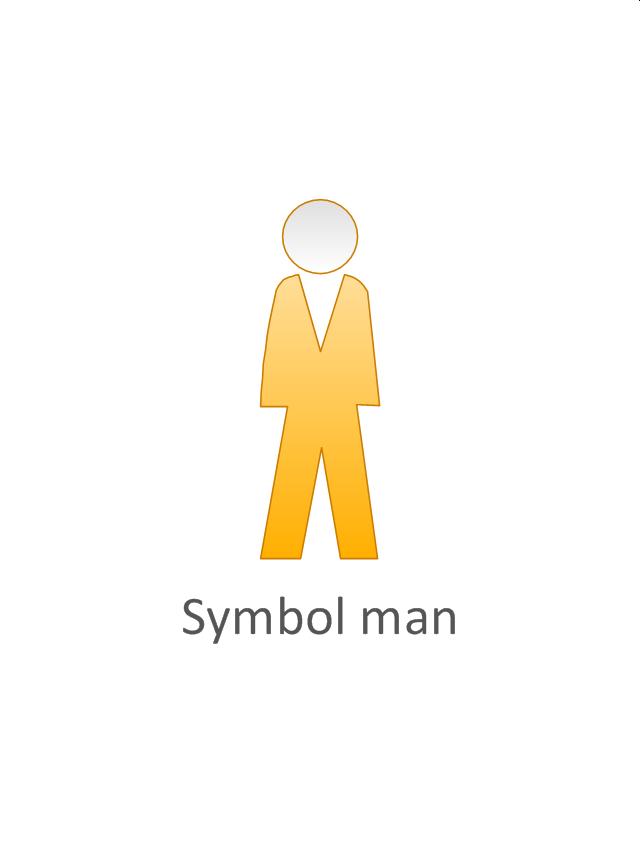 Symbol man, yellow, symbol man, standing man,