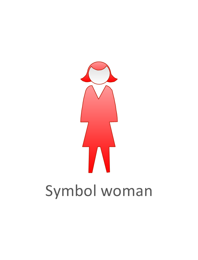 Symbol woman, red, symbol woman, standing woman,