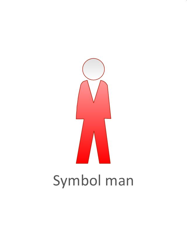Symbol man, red, symbol man, standing man,