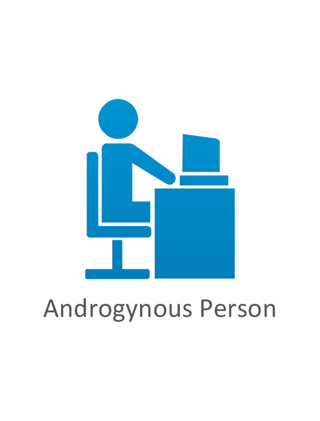 Androgynous person, blue, androgynous person,