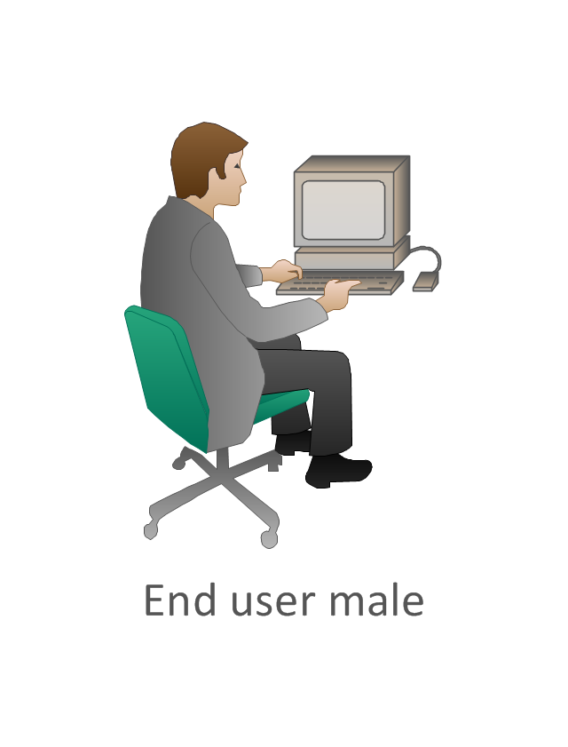 End user male, pc man, end user male,