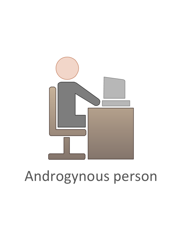 Androgynous person, androgynous person,