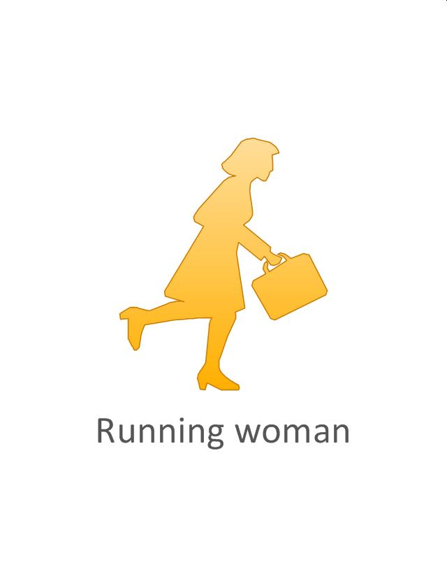 Running woman, running woman,