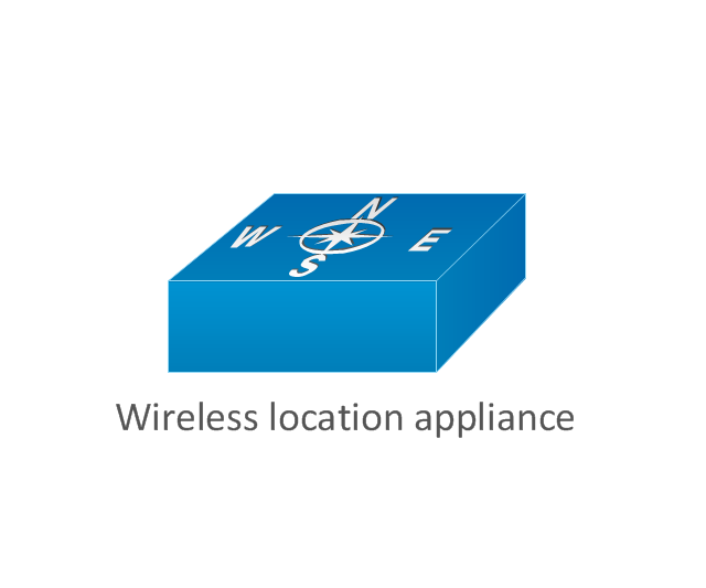 Cisco products additional vector stencils library for Localisation wifi