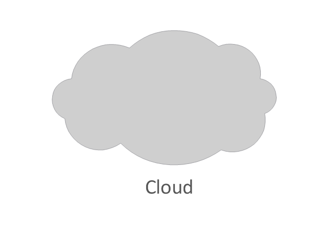 Network cloud, standard color, cloud,