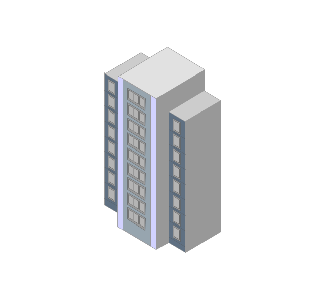 Tower block, high-rise building,