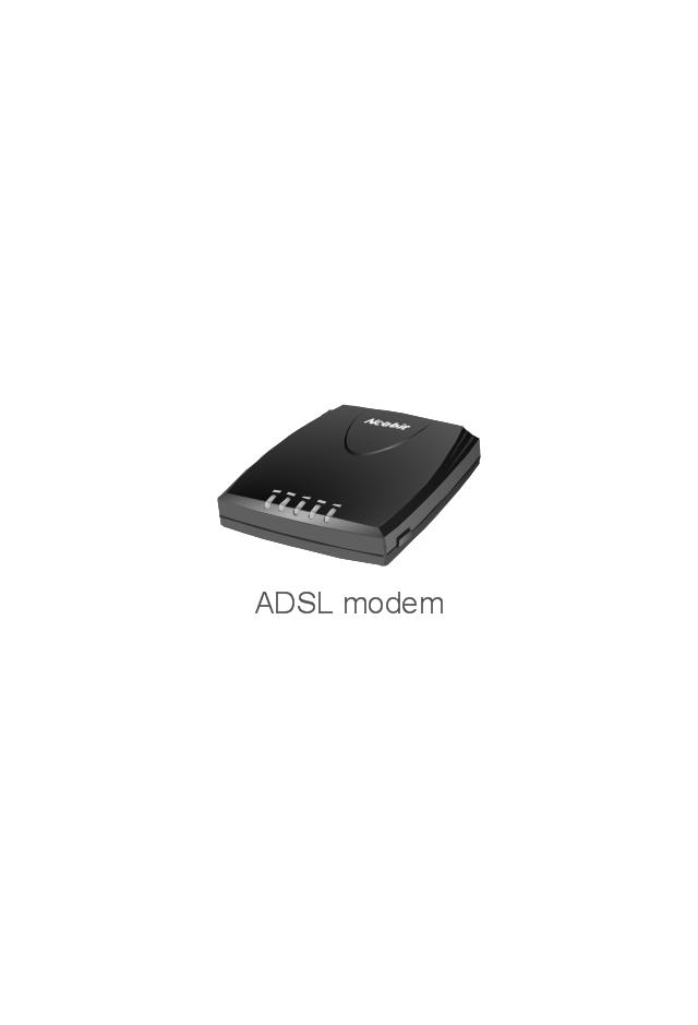 ADSL modem, ADSL modem,
