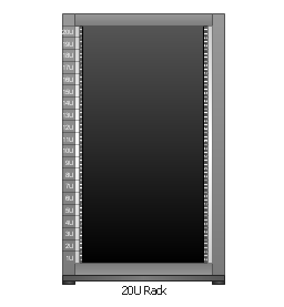 19 inch Rack with Rails, 19 inch rack,