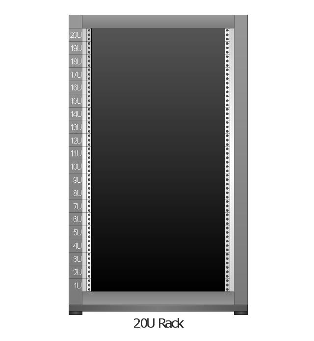 Rack Diagrams Vector Stencils Library Application