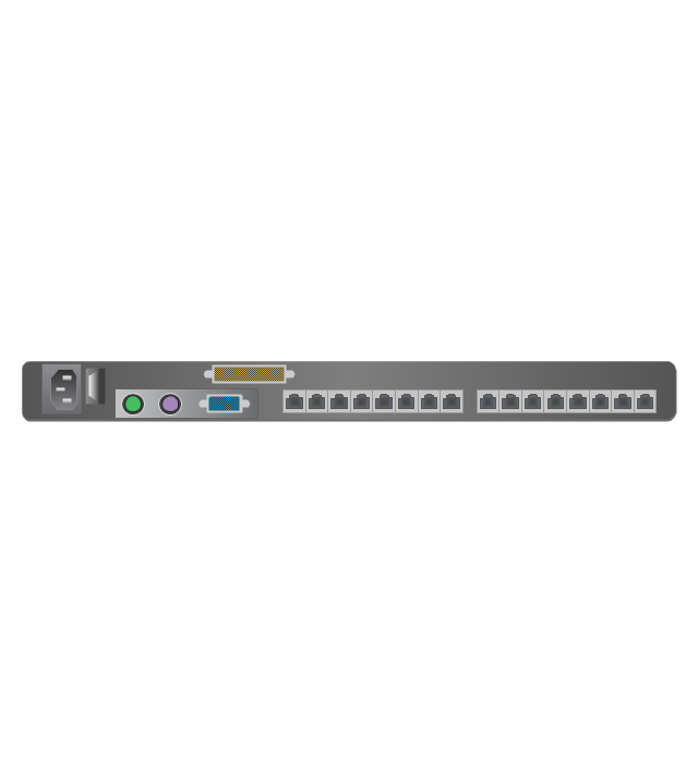 1U KVM switch, 1U KVM switch,