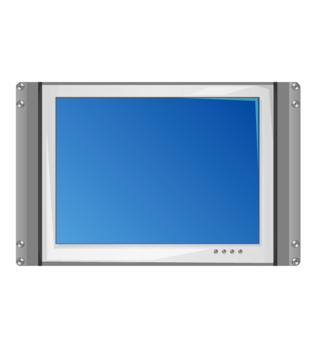 7U rackmount LCD monitor, 7U rackmount LCD monitor,