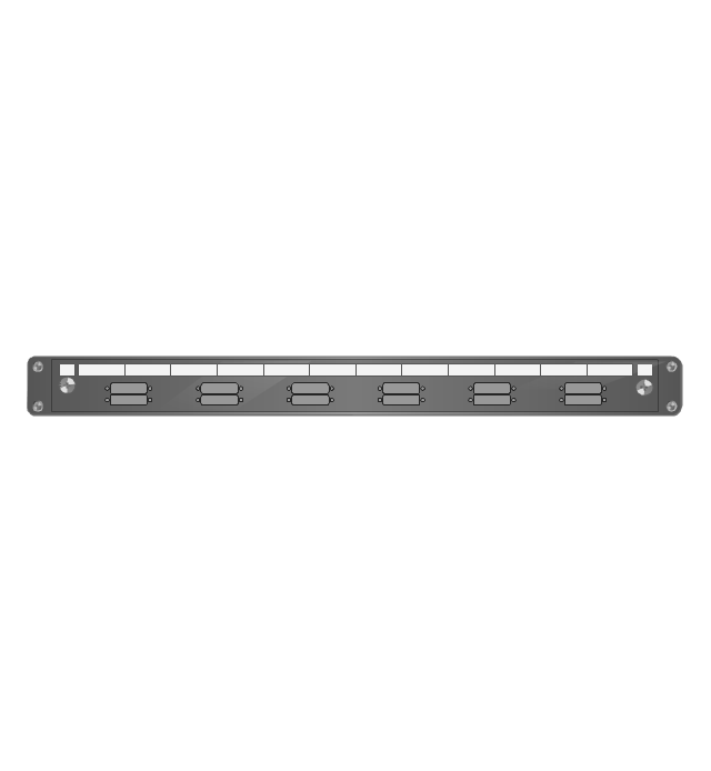 Fiber optic patch panel (type C), fiber optic patch panel,