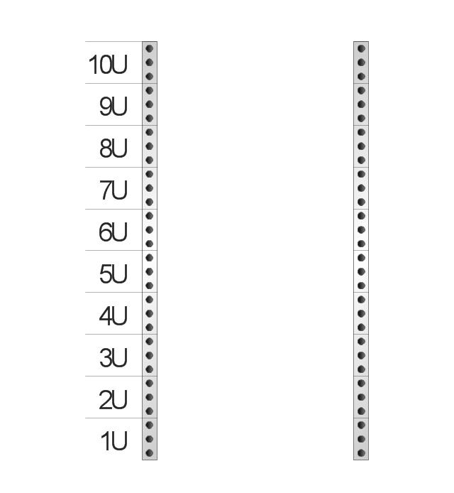 Rack rails (half-width), rack rails,