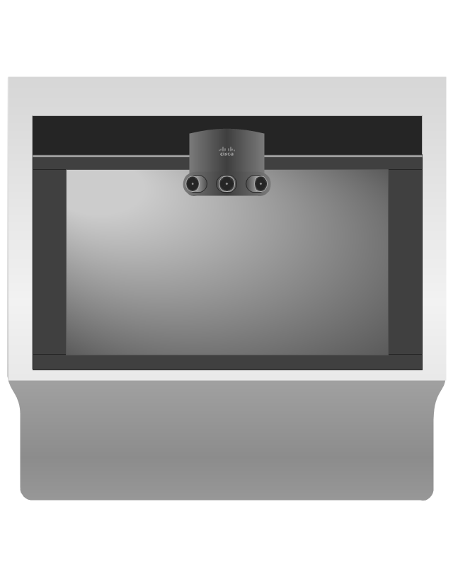 Cisco TelePresence System 1300-65 (front), Cisco, telepresence,