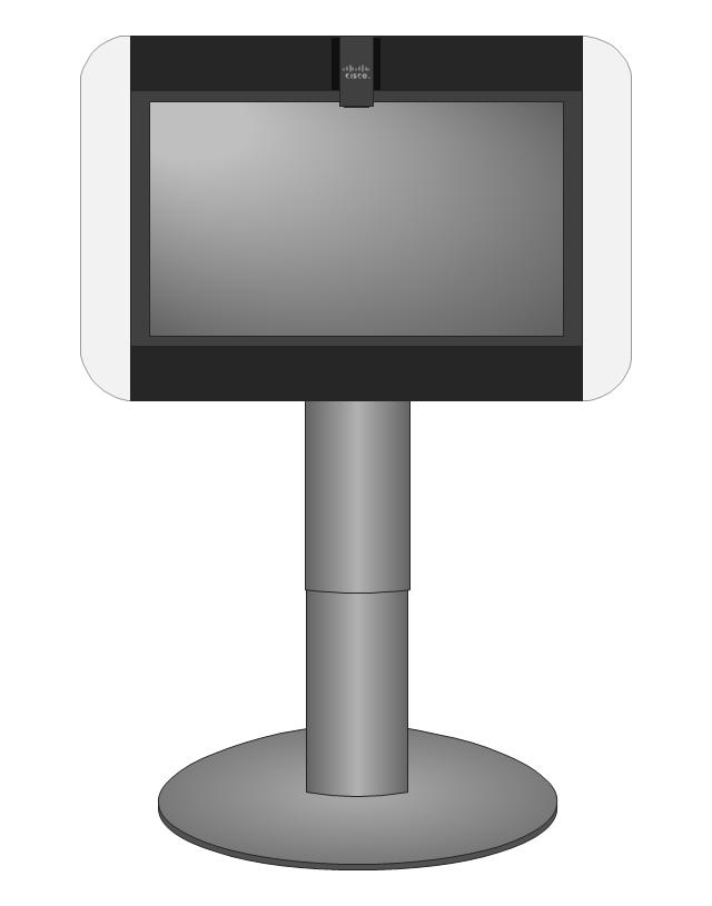 Cisco TelePresence System 500-32 (front), Cisco, telepresence,