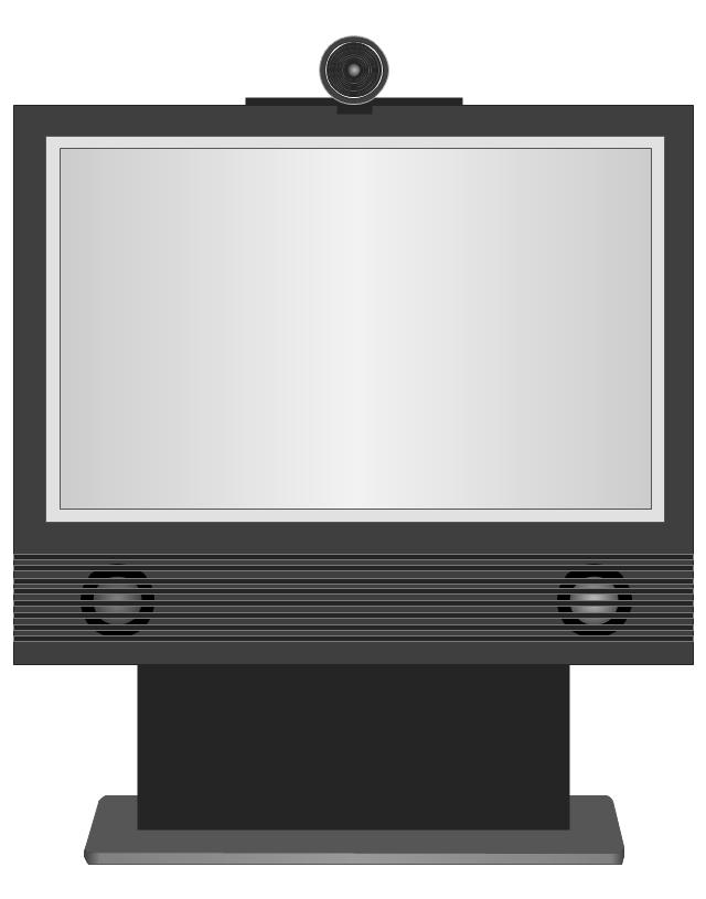 Cisco TelePresence 1700 MXP (front), Cisco, telepresence,