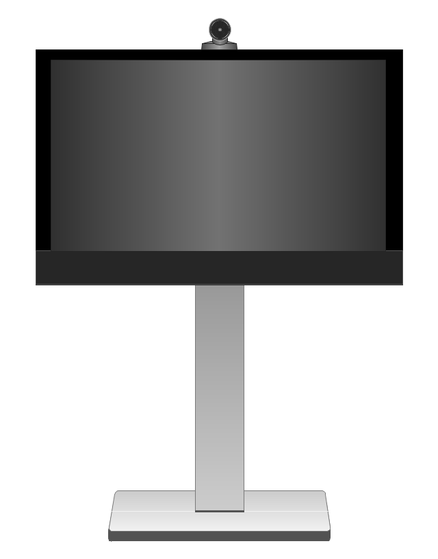 Cisco TelePresence System MX200 42-inch (front), Cisco, telepresence,