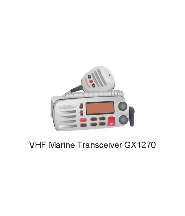 VHF Marine Transceiver GX1270, VHF, Marine Transceiver, GX1270,