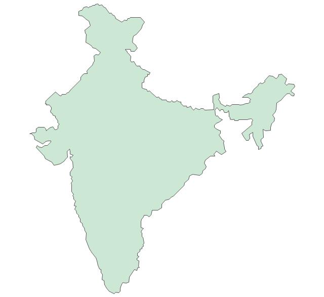 India, India, India map,