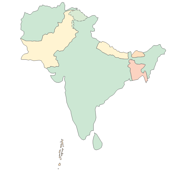 South Asia Political Map Southeast Asia Political Map - South asia map