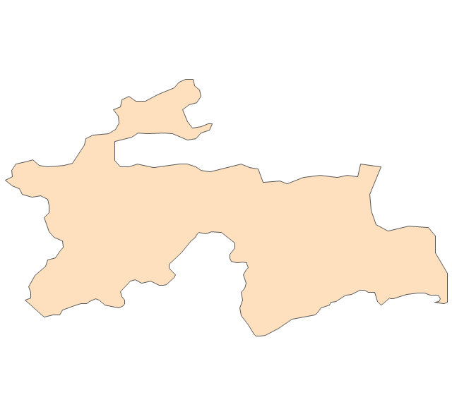 Asia Vector Stencils Library - Tajikistan map vector