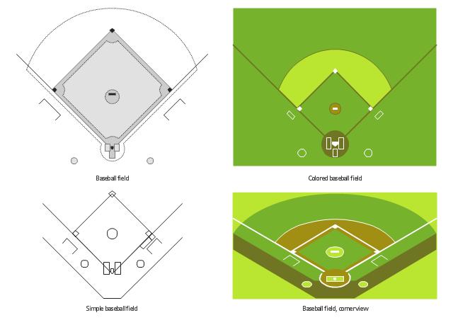 baseball diamond templates