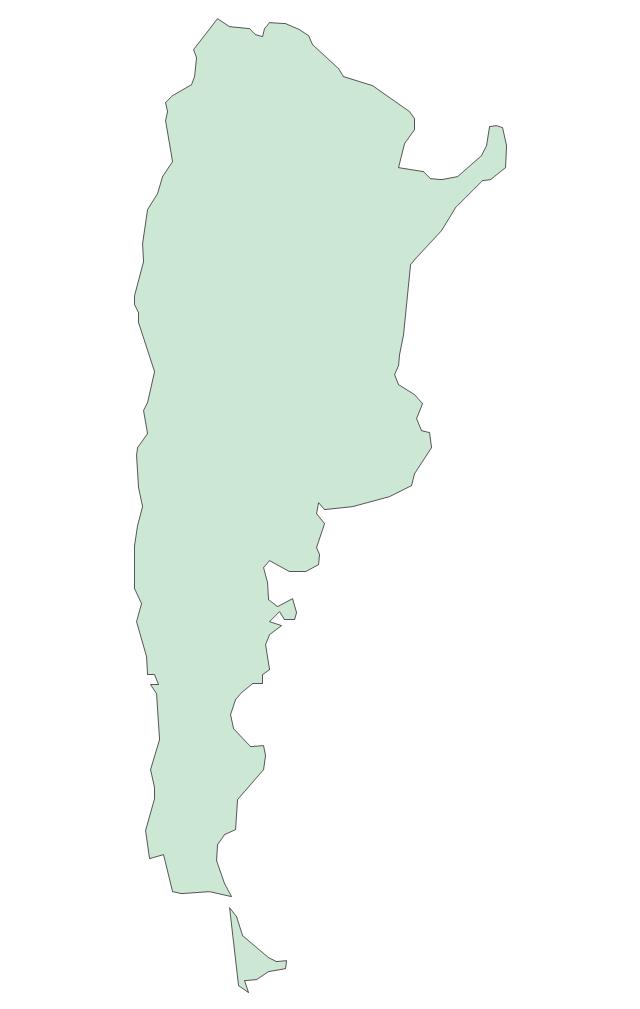 Latin America Vector Stencils Library South America Vector - Argentina map vector