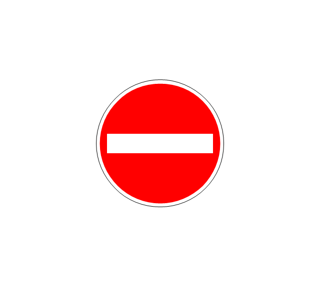 No entry both directions - Conceptdraw.com | Road signs ...