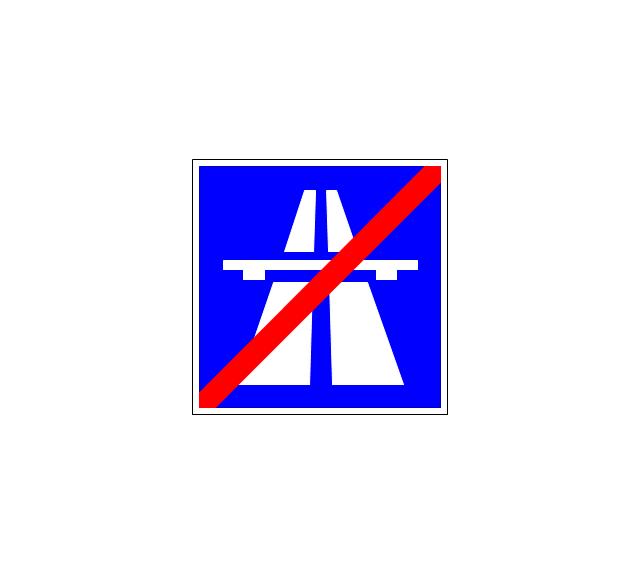 End motorway, end motorway,