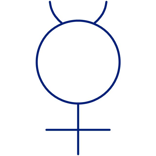 Mercury symbol, Mercury symbol,