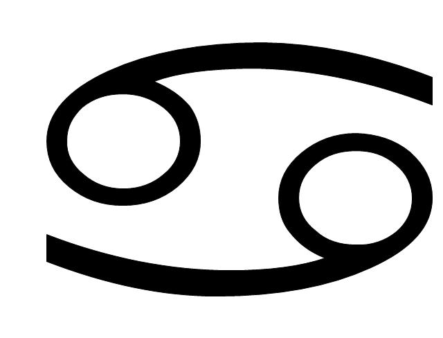 Cancer sign, Cancer symbol, Cancer sign,