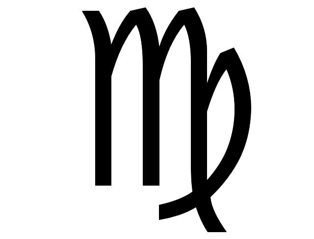Virgo sign, Virgo symbol, Virgo sign,