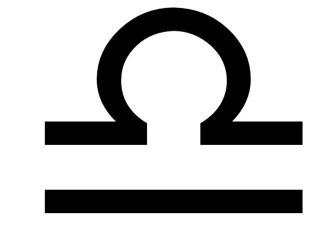 Libra sign, Libra symbol, Libra sign,