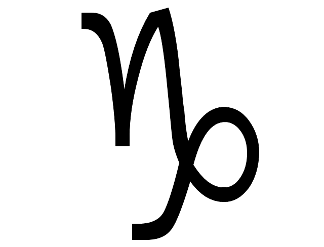 Capricornus sign, Capricornus symbol, Capricornus sign,