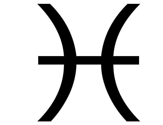 Pisces sign, Pisces symbol, Pisces sign,