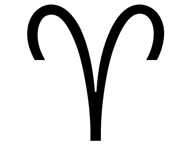 Aries sign, Aries symbol, Aries sign,