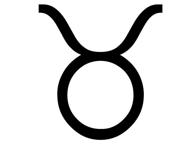 Taurus sign, Taurus symbol, Taurus sign,