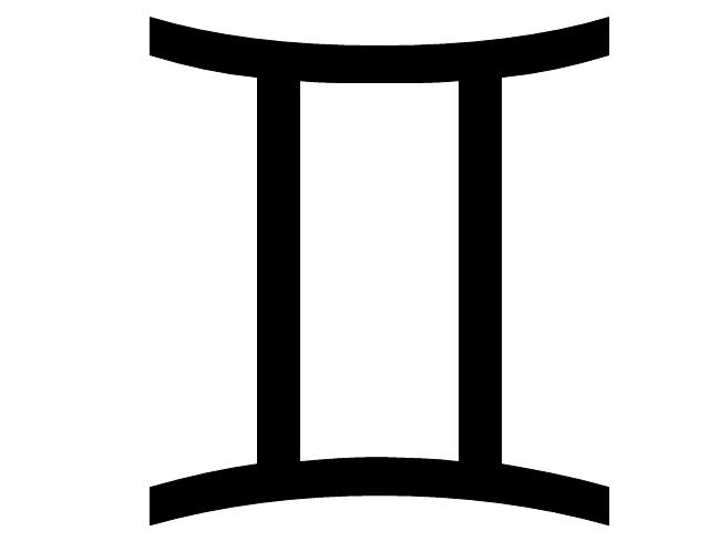 Gemini sign, Gemini symbol, Gemini sign,