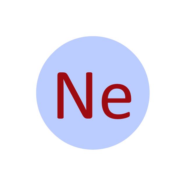 Neon (Ne), neon, Ne,