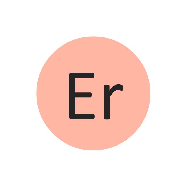 Erbium (Er), erbium, Er,