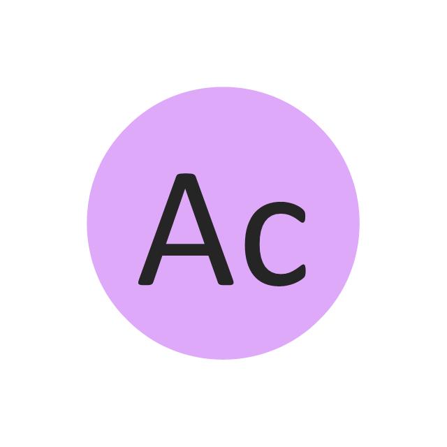 Actinium (Ac), actinium, Ac,