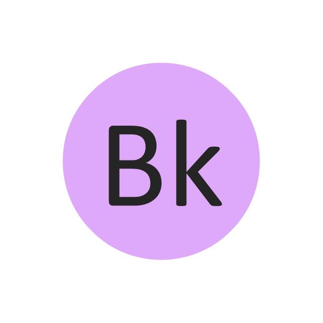 Berkelium (Bk), berkelium, Bk,