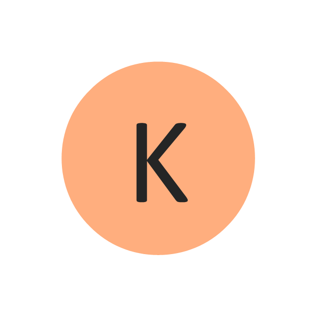 Potassium (K), potassium, K,