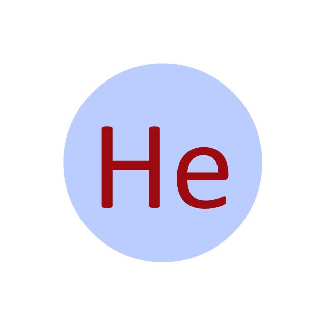 Helium (He), helium, He,